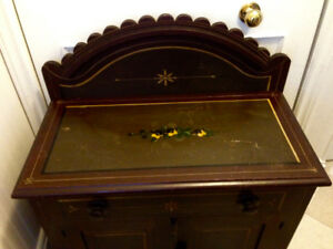 Beautiful Antique Eastlake Commode, Original Paint, Circa 1900,
