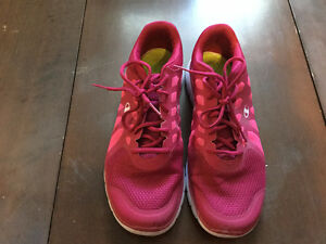 Women's Silver Flats and Athletic Shoes, Size 13