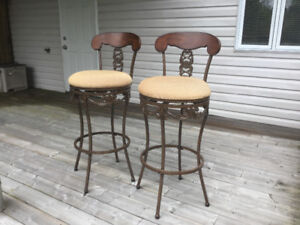 Swivel Metal Bar Stools - $150 for the pair