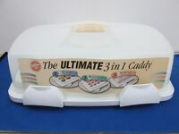 Wilton The Ultmate 3 in 1 Caddy For Cupcakes or Cake New
