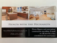 Reno's with the Richard's - Renovation&Restoration services