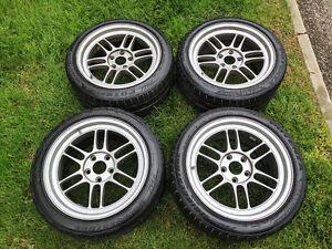 Enkei RPF1 17x9 +45 Rims with Bridgestone Potenza RE760 Tires