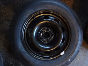 1 NEW KUMHO KH18 195 65 15 91H WITH RIM 5X112 VW JETTA