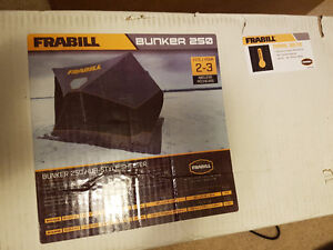 New Frabill Bunker 250 Insulated Hub Style Shelter Tent Fishing