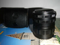 Set of 3 Pentax M42 extension tubes in original leather case