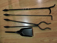 For sale: Wrought Iron Poker set. All pieces are handmade