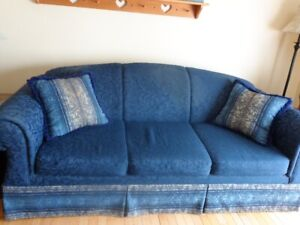 Sofa, Love Seat & Chair with 4 matching cushions
