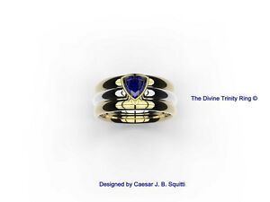 World Premiere Engagement Ring Design - The Divine Trinity Ring©