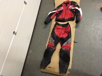 Rst motorbike leather jacket & trousers. Size 44. Medium/large. Immaculate. One piece leathers