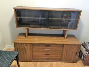 ikea sideboard and hutch from the 70's