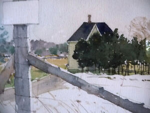 """Early Spring """"Near Eckhardts Corners, Stouffville, Watercolor Stratford Kitchener Area image 9"""