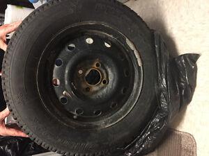 4 pneus d'hiver + Rims