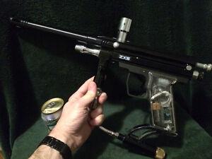 Pistolet mitrailleur Speedball automatique ZXS pour Paintball