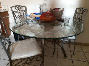 5 piece glass dining table