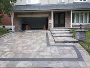 landscaping interlocking driverway pation deck and fence