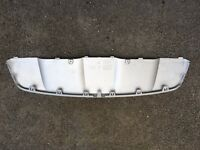 BMW X6 E71 rear bumper silver trim