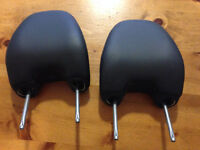 2 Volvo OEM Front Leather Head Rests