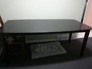 Large Black Dining Table $120/OBO