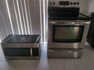 Kenmore Stainless Steel Convection Stove and Microwave