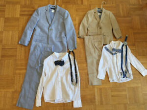 Jcrew- crew cuts kids full suit age 3-4 and 6-8