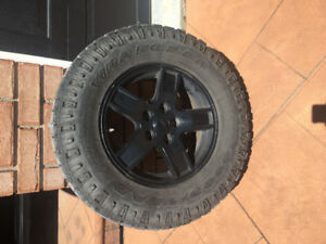 Goodyear Wrangler Duratrac  tires and rims like new