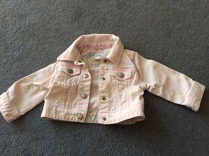VGUC Gap infant denim jacket - light pink - size 6-12 months