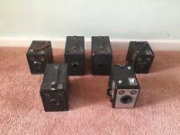 Box brownies Kodak, vintage cameras