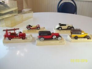 Solido Age D'or Diecast Model Cars with Holders-- Scale 1/43