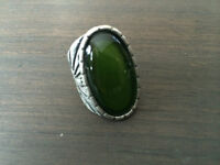 Funky Green Ring with Cross