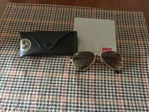 ray ban avaitor sunglasses,gold frame,brown lens,55mm lens