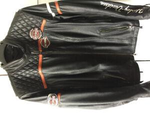 Manteau femme cuir Harley