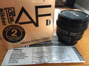 Nikon Nikkor 20mm 2.8D