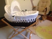 Limited edition bassinet, Clevamama mattress (to stop flat head syndrome) and stand.