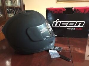 Brand new Black Icon Alliance helmet (size small) with tags