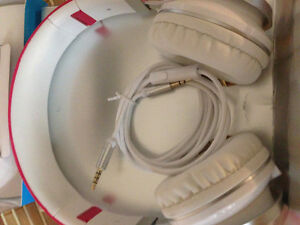 B&J headphones plug in with loud bass $35 Beats wireless