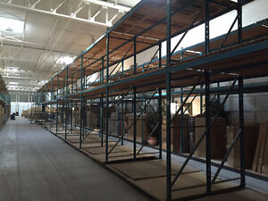 """INDUSTRIAL RACKING - 120"""" WIDE AND DOUBLE DEPTH - 60 SECTIONS"""