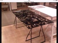 Glasholm- Ikea Butterfly glass desk top