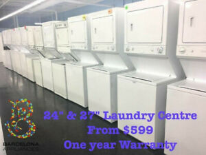 WASHER & DRYER STACKED - LAUNDRY CENTRE FROM $599