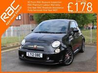 2012 Abarth 500 1.4 T-Jet 135 BHP 5 Speed Full Leather Bluetooth Interscope Hi-F