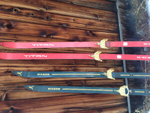 Vintage Cross Country Skis for art or decor