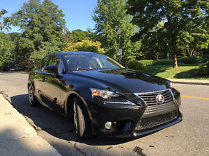 2014 Lexus IS 350 Luxury Package Berline Gris Charcoal int Beige