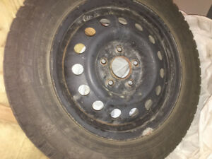 195/65/15 SNOW TIRES - BARELY USED, FOR HYUNDAI, KIA, TOYOTA