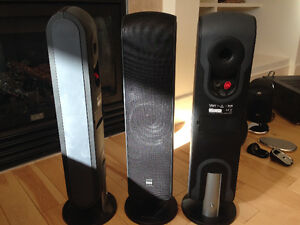 Surround sound 5 B&W speakers + subwoofer, Yamaha receiver