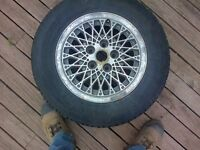 used studed winter tire and rim