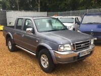 FORD RANGER XLT 4X4 TD AIR CON DOUBLE CAB PICK UP, Grey, Manual, Diesel, 2004