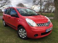 2008 NISSAN NOTE 1.4 VISIA 5 DOOR * ONLY 69000 MILES * 12 MONTHS MOT* SERVICE HISTORY* 1 OWNER*
