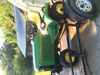 JD 425 Tractor and Rototiller