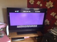 "HDMI 50""flat screen TV plasma"