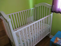 Natart Juvenile Solid Wood Baby Crib and Mattress