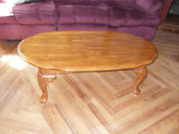 Great Deal on a Beautiful Oval Coffee Table